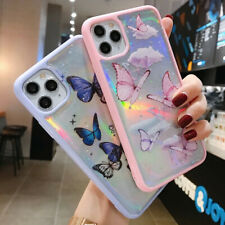 iPhone 11 Pro Max 8 Plus XS Max XR Bling Glitter Butterfly Cute Phone Case Cover