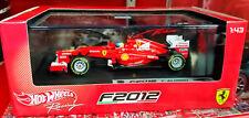 HOT WHEELS RACING 1/43 2012 FERRARI F2012 FERNANDO ALONSO X5522
