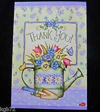 Leanin Tree Thank You Flowers Greeting Card Glitter Multi Color R127