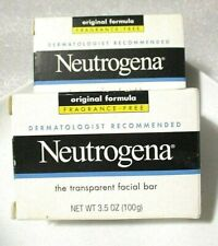 2-Neutrogena Transparent Facial Wash & Cleanser Bar Soap - Fragrance Free 3.5 oz