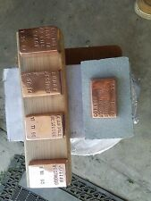 Customizable 1 lb copper bar handmade hand stamped 999 pure copper ingot
