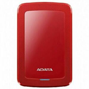 ADATA HV300 SLIM RED 2TB External HDD USB 3.2 AES encryption Stylishly svelte
