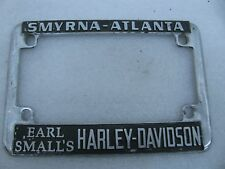 Earl Small's Harley Davidson License Plate Mount Frame Knucklehead Atlanta