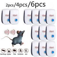 2/4/6pcs Ultrasonic Pest Repeller Control Electronic Repellent Mice Rat Reject