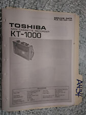 Toshiba kt-1000 service manual original repair book tape deck recorder player
