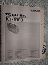 Toshiba kt-1000 service manual original repair book tape deck recorder player