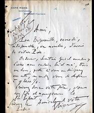 """MONTLUCON (03) CAFE RICHE / DEBIT de BOISSONS """"Propriétaire SARRASSAT"""" en 1912"""