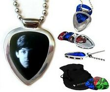 Paul McCartney BEATLES pick + PICKBAY Guitar Pick holder Pendant Necklace Set