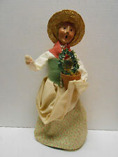Byers Choice Gardening Woman & Topiary 2003 Col. Williamsburg Holiday Collection