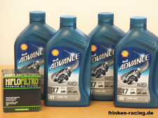 Shell ax7 15w-50 teilsyn/filtro aceite ducati 1099 Streetfighter/s BJ 09 - 13