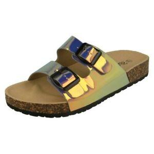 'Ladies Spot On' 2 Tone Sandals - F0R0227