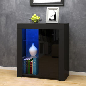Modern Cabinet Sideboard Unit Cupboard Display Matt body - High Gloss Doors LED