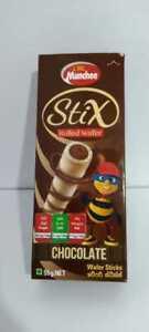 Chocolate Rolled  Wafer Stix 55g.NET CBL Munchee Product Sri Lanka