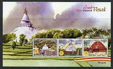 Sri Lanka 2016 MNH Vesak Buddha Day Stupa 3v M/S Buddhism Religion Stamps