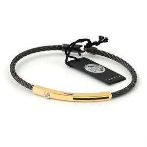 Salvatore Bersani 7991 yellow Gold 18K Diamond steel bracelet men MADE IN ITALY