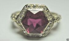 Antique Deco Synthetic Ruby Engagement Ring 14K Yellow Gold D-.15CT Ring Size 6