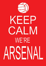 Moderno Shabby Chic Keep Calm siamo Arsenal Football A3 Stampa Artistica Poster