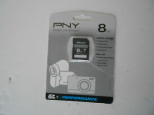 New PNY 8GB SDHC SD card for Nikon Coolpix Cameras & Others - Sealed  FreeShip