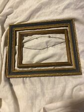 Lot Of 2 Wood Picture Frame Silver Carved Fits 7x9 & 5x7 Picture Art Deco