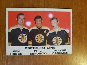 1970-71 OPC #233 The Esposito Line  BOSTON BRUINS