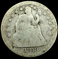 1858-P 10C Seated Liberty Dime 90% Silver 20cct1030 70 Cents Shipping