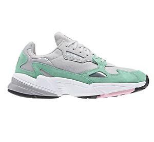 Adidas Original Falcon Grey Watermelon Green Womens Running Shoes B28127
