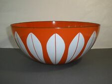 "Cathrineholm Norway LOTUS Orange/White 9.5"" Enamel Bowl *Grete Kittelsen"