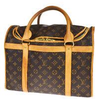 Auth LOUIS VUITTON Sac Chien 40 Pet Carrier Hand Bag Monogram M4202474BQ327