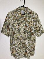 Mens Size Large Roundtree & York Hawaiian Shirt