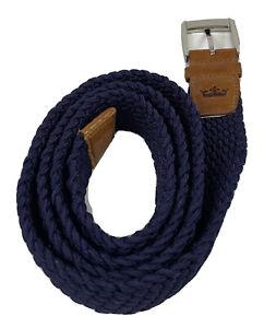 Peter Millar Crown Brown & Purple Braided Belt Size XL
