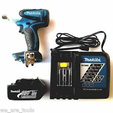 """Makita 18 Volt XWT05 Cordless 1/2"""" Impact Wrench,(1) BL1830 3.0 Battery, Charger"""