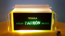 ANEJO PATRON SILVER TEQUILA BAR LIGHT 'NEON ICE' DISPLAY CASE ONE OF A KIND RARE