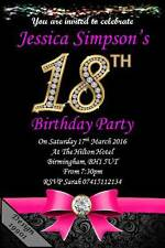 10 x personalised 18th birthday party invites invitations envelopes 19901 - 18th Birthday Party Invitations