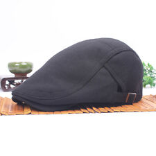 Men Women Casual Solid Color Beret Peaked Driving Flat Hat Baker Casquette Cap