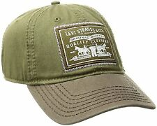 Levis Mens Twill Baseball Cap, Olive, One Size