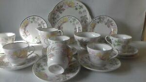 Vintage Shelley 21 Pce Tea Coffee Set Coloumbine 13922 Stunning Condition.