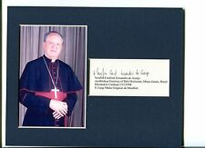 Serafim Fernandes de Araujo Roman Catholic Cardinal Signed Autograph Photo Displ
