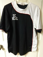 Vintage Official F.C. Real Soccer Futbol Polyester Jersey Mens Large # 21 - Mono