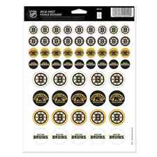 "BOSTON BRUINS 8.5""x11"" ULTIMATE LOGO STICKER SHEET NEW FREE SHIPPING WINCRAFT"
