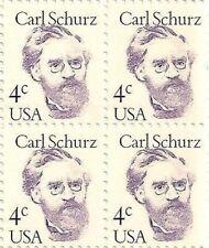 US 1847 Carl Schurz 4c block MNH 1983