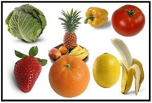 Fruit Et Légumes - Amusant Souvenir Nouveauté Réfrigérateur Aimant - Tout Neuf /