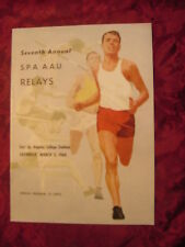 SPA AAU Relays East L A College Track & Field Meet March 5 1960 Offical Program