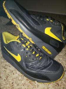 Nike Air Max 90 Black Yellow Grey Mens Size 10.5 Rare 325018-070 Running