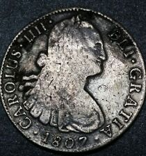 1807 ☆T.H.☆ Mexico ☆ 8 Reale Spanish Milled Bust☆ U.S. First Silver Dollar Coin