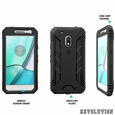Poetic Revolution Black Case【Premium Rugged】Protection For Moto G4 Play