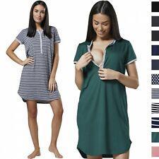 0be107f815034 Happy Mama Women's Maternity Nursing Cut Out Nightshirt -Striped Nightdress  045p
