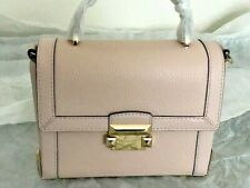 NWT Michael Kors Jayne Small Leather Trunk Bag Soft Pink $278