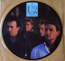 """U2 PRIDE IN THE NAME OF LOVE/ BOOMERANG 11 1984 PICTURE PIC DISC 7"""" VINYL"""