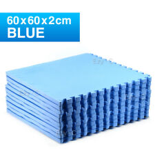 12 Tiles EVA Rubber Foam Camping Gym Mat 60x60x2cm Fitness Flooring Kids Baby