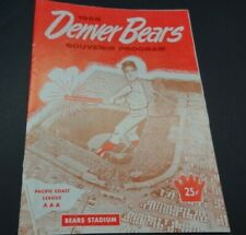 1965 Official Denver Bears Minor League Baseball Magazine